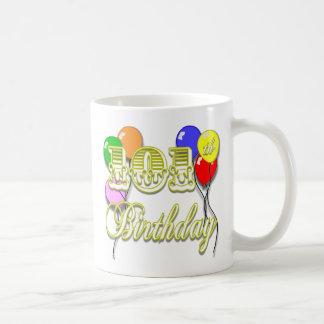 Caneca De Café 101st Aniversário com balões