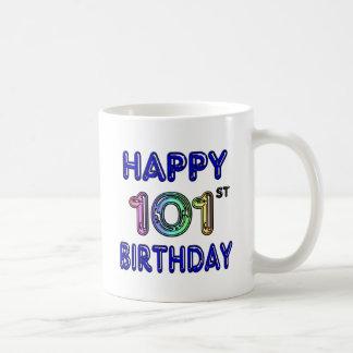 Caneca De Café 101st aniversário feliz