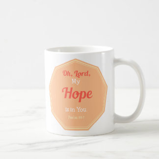 Caneca De Café 39:7 do salmo minha esperança está em você