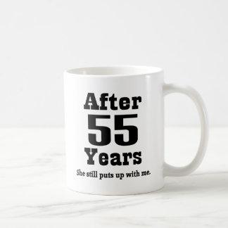 Caneca De Café 55th Aniversário (engraçado)