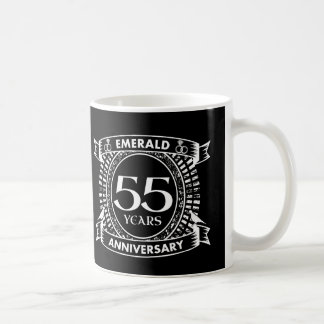 Caneca De Café 55th crista da esmeralda do aniversário de
