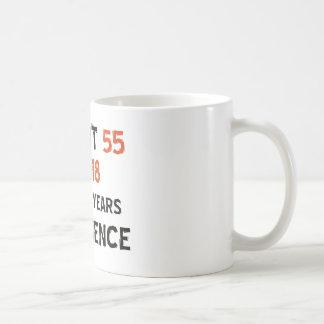 Caneca De Café 55th design do aniversário