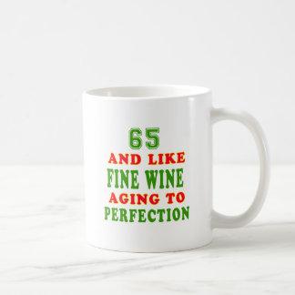 Caneca De Café 65 e como o design do aniversário do vinho fino