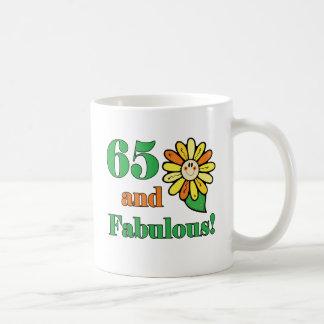 Caneca De Café 65th presentes de aniversário fabulosos
