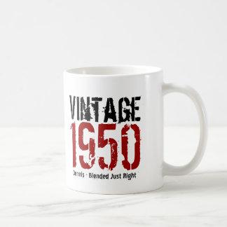 Caneca De Café 65th Vintage do aniversário 1950 ou qualquer anos