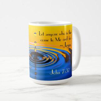 Caneca De Café 7:37 qualquer um que é thirsy vindo a mim, bíblia