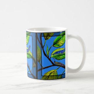 Caneca De Café A arte w/Caterpillars da natureza no café/chá