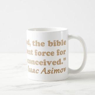 Caneca De Café A bíblia é uma força poderoso para o ateísmo
