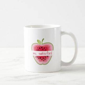 Caneca De Café A melancia Apple personalizou o professor