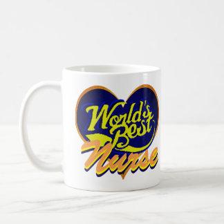 Caneca De Café A melhor enfermeira do mundo
