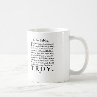 Caneca De Café A nomeação de Troy, NY 1789