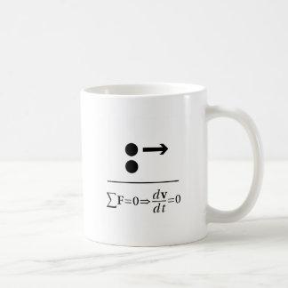 Caneca De Café A primeira lei de Newton