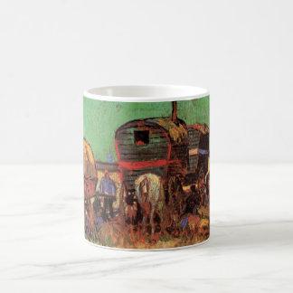 Caneca De Café Acampamento de caravana dos ciganos por Vincent