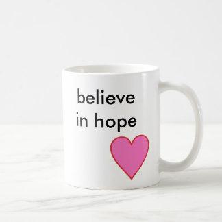 Caneca De Café acredite na esperança