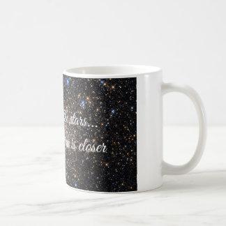 Caneca De Café Alcance para as estrelas/a menos que o vinho for
