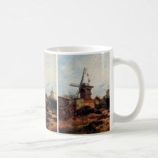 Caneca De Café Aleta de Van Gogh Le Moulin de Blute, moinho de