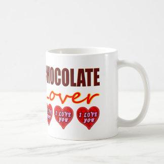 Caneca De Café Amante do chocolate com eu te amo chocolates