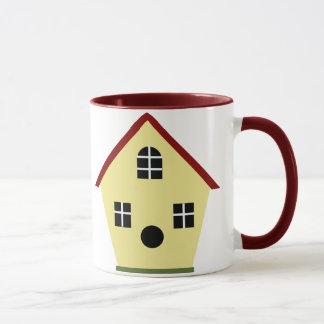 Caneca de café amarela do Birdhouse do país
