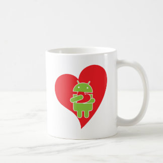 Caneca De Café Amor do Android