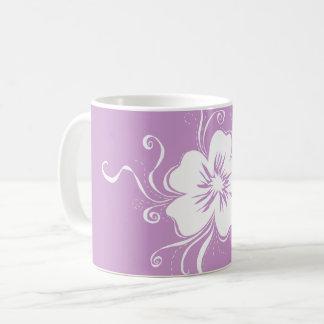 Caneca De Café Amor perfeito brincalhão - lilac reverso