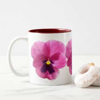 Caneca de café - amor perfeito cor-de-rosa escuro