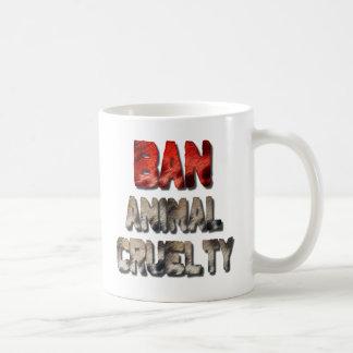 Caneca de café animal da crueldade da proibição