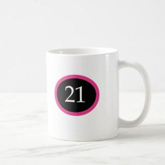 Caneca De Café Aniversário de 21 anos feliz da menina 21