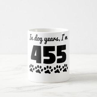Caneca De Café Aniversário dos anos do cão 65th