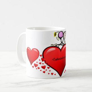 Caneca De Café Anjo dos namorados em um coração