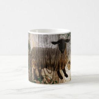 Caneca De Café ano dos carneiros de madeira