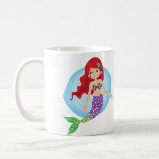 Caneca De Café Apenas mantenha nadar o copo da sereia