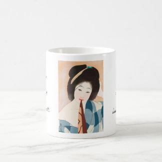 Caneca De Café Após a senhora japonesa do vintage de Shima Seien