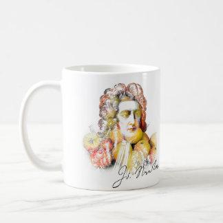 Caneca De Café Apple Isaac Newton (delicado)