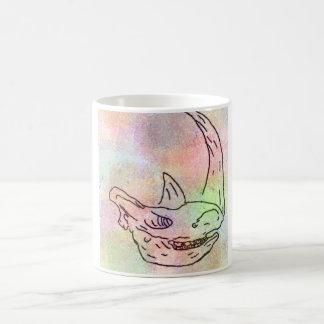 Caneca De Café Arco-íris do watercolour do rinoceronte