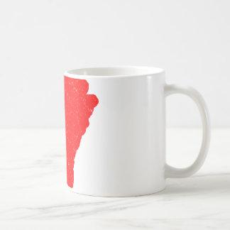 Caneca De Café Arkansas Branco-Atou os cervos afligidos
