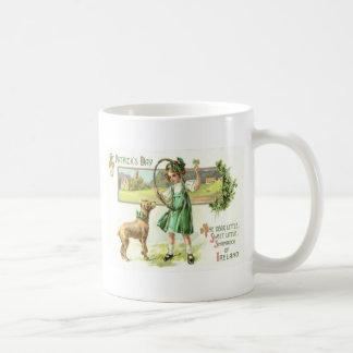 Caneca De Café Aro do cão do trevo da folha do trevo quatro da