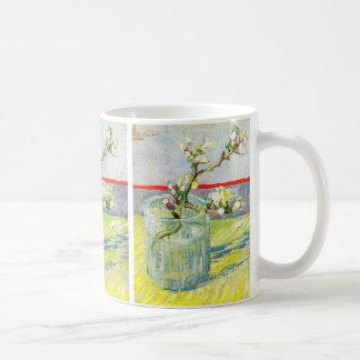 Caneca De Café Arte de Van Gogh, ramo de florescência da amêndoa