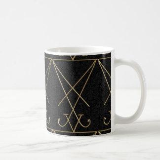 Caneca De Café Arte gótico de Sigil da alquimia de Lucifer