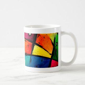 Caneca De Café Arte Groovy abstrata preliminar
