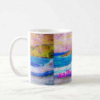 Caneca De Café arte salgado das ondas