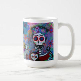 Caneca De Café Artista de Diâmetro De Los Muertos Mexicano