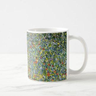 Caneca De Café Árvore de Apple por Gustavo Klimt, arte Nouveau do