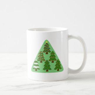 Caneca De Café Árvores de Natal