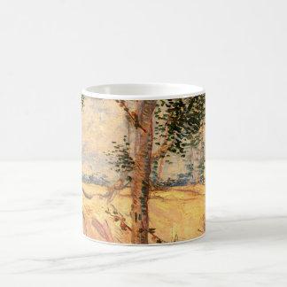 Caneca De Café Árvores de Van Gogh em um campo em um dia