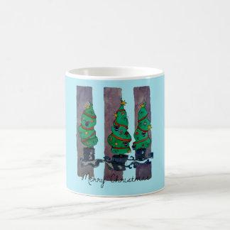 Caneca De Café árvores do feriado