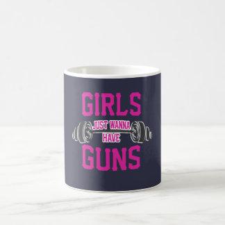 Caneca De Café As meninas apenas querem ter armas