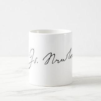 Caneca De Café Autógrafo da assinatura do senhor Isaac Newton