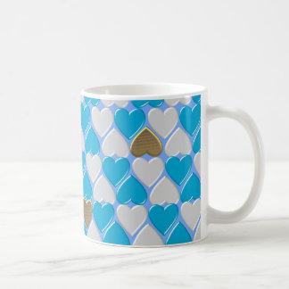 Caneca De Café Azul, teste padrão bávaro branco