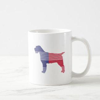 Caneca De Café Azul vermelho do cão patriótico apontar Griffon