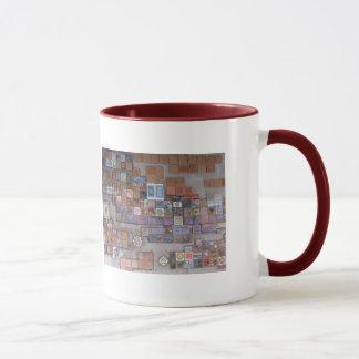 Caneca de café--Azulejos do estação de